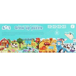 GROW UP PUZZLE (FOUR SEASONS OF ANIMALS)