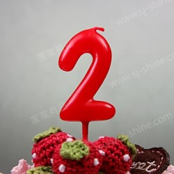 """""""2""""  Candle Number (RED)"""