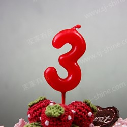 """""""3""""  Candle Number (RED)"""