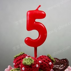"""""""5""""  Candle Number (RED)"""