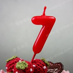 """""""7""""  Candle Number (RED)"""