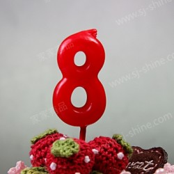 """""""8""""  Candle Number (RED)"""