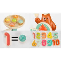MATH & LOGIC PAIR OF SCALES WITH SMALL BEAR AND NUMBERS GAME
