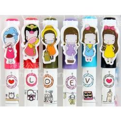 韓版 小女孩一天的生活 6色顏色筆套裝盒 (YMP700-9)