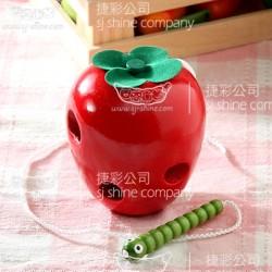 小蟲吃蘋果 穿線 (TY0057)