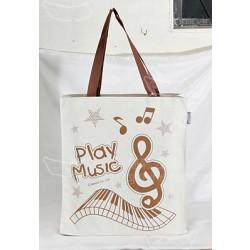 音符與鋼琴 (PLAY MUSIC) TOTE BAG (裝神秘側背袋) (199)