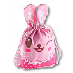 粉紅色 兔仔 (KKA-045-09 大號束口袋)