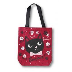 Bonjour! BONNE JOURNEE  棗紅色 貓貓側背袋