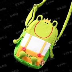 青蛙王子 布藝斜帶包