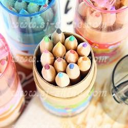 韓版 12色 木顏色筆連筆刨