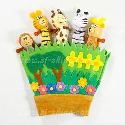 手指套偶玩具 (動物園)