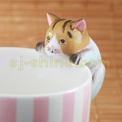 小貓 杯緣子 擺設