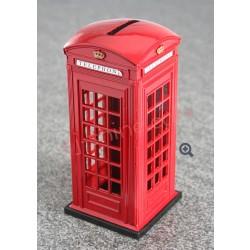 紅色 電話亭錢箱 (英倫風)