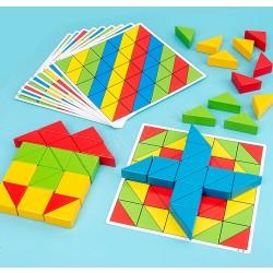 50粒 三角積木遊戲